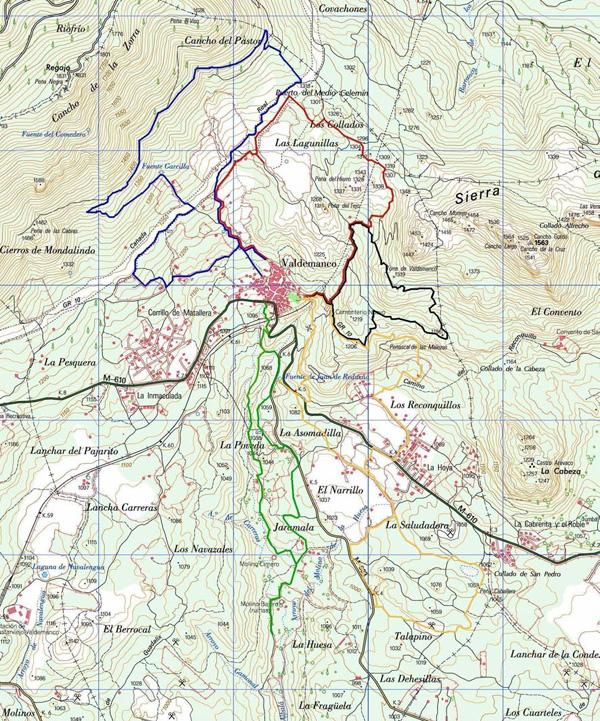 Mapa general de senderos